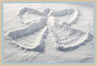 Snow Angel made in the snow